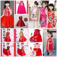 Cheongsam Anak Perempuan Qibao Dress Impor Baju Imlek Chinese New Year
