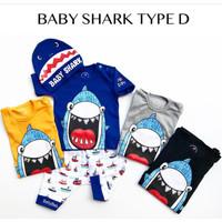 Setelan Baby 1-2thn Shark Baju Anak Murah Baju Tidur Anak All size