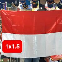 bendera merah putih Satin uk. 1x1,5m