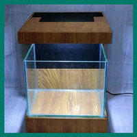 display aquarium mini 1 set kabinet aquarium + lampu led untuk cupang