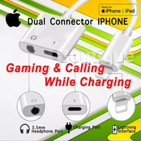 Dual Connector iphone 7 8 x lightning to jack 3.5 MIC ON