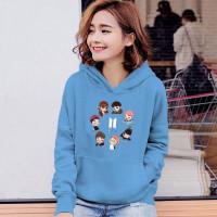 Sweater Jumper BTS Anime Size Anak-Anak, ABG, Dewasa - BTS Anime Biru, S ( 4-10 tahun
