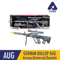 Mainan Tembakan AUG German Bullup + Suara dan Laser Bongkar Pasang