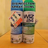 WIZ 24 Disinfectant Spray Aerosol 300ml - Biru