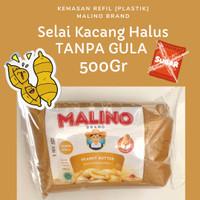 Selai Kacang Halus Peanut Butter Creamy TANPA GULA 500gr- MALINO BRAND