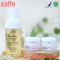 Zalfa Miracle Dewy Glow Mousse FC + Day + night Cream Lightening