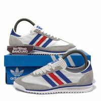 Sepatu Sneakers Casual Pria Adidas SL72 White Blue Red Size 39-44 BNIB