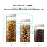 lock n lock square door pocket canister 3 set 750ml 750 ml toples