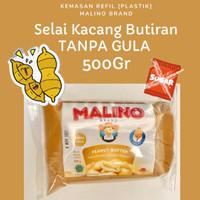 Selai Kacang Butiran Peanut Butter Chunk TANPA GULA 500gr MALINO BRAND