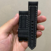 [Gunny Straps] Canvas Noir Watch Band For Luminor 24mm