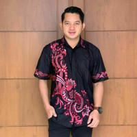 Baju Batik Kemeja Pria Hem Cowok Lengan Pendek Baju Batik Pria Modern