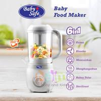 LB012 Baby Safe 6in1 Food Maker Processor / Babysafe Steamer Blender