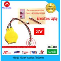 Baterai CMOS BIOS Laptop Notebook CR2032 Soket Kabel - 3 Vol 2 pin
