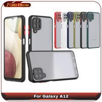 Casing Hard Soft Case Samsung Galaxy A12 A 12 Translucent Camera Ring