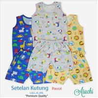 baju harian piyama setelan kutung Aruchi SML singlet anak bayi unisex