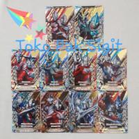 Kizuna Card Ultraman Fusion Fight R/B Ver 1 BANDAI (10 kartu) RB