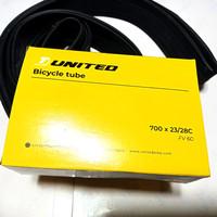 ban dalam sepeda 700 x 23/28c united fv60