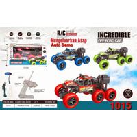 Mainan Mobil Remote Control RC Jeep Rock Crawler 1:16 6 Ban bisa Asap