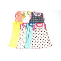 Baju Anak Perempuan Tanpa Lengan Katun Halus Adem 4-5 tahun RANDOM