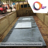 FRP Grating. Molded Grating Mesh 3838 - 1220x3660mm Thickness: 25mm