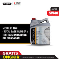Oli Mobil Terbaik 9Circle - 5W 40 100% Synthetic Super Revolution