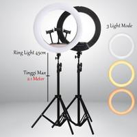 RING LIGHT DIAMETER 45CM RING LAMPU + TRIPOD MEJA + TRIPOD 2.1M