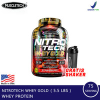 Muscletech Nitrotech whey gold 5,5 lbs (whey protein isolate) BPOM