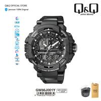 Q&Q QnQ QQ Original Jam Tangan Pria Dual Time -GW86 GW86J Rubber