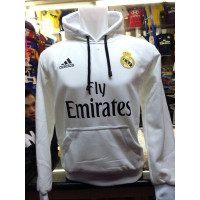 Jaket Bola Real Madrid Putih Hoodie Sweater Unisex