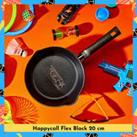 HAPPY CALL Flex Pan Ceramic Coating 20cm Black / Panci Serbaguna - Black