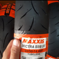 PAKET 1 BAN LUAR MAXXIS VICTRA TUBLES 90/90-14 ALL MOTOR METIC