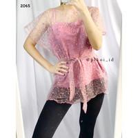 Pearl top / atasan brokat tile premium / two piece camisole baju pesta