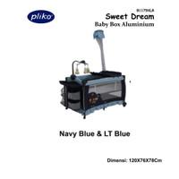 TEMPAT TIDUR BAYI - BABY BOX PLIKO 1179 XLR + KASUR BEST SELLER GOJEK - NAVY BLUE LT BL