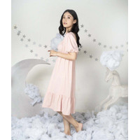 Takoyakids X Margenie Aera Puff Sleeves Dress Adult Blush