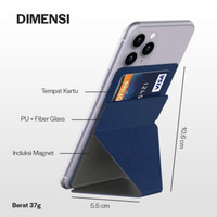 Phone Holder Lipat Universal Ultra Thin BEST IMPORT QUALITY - Hitam
