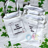 Totebag / Bahan Baby Canvas / Uk 30x40cm / Resleting /Design Custom