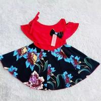 Dress anak sabrina tali satu / Baju anak perempuan usia 1-5 th murah