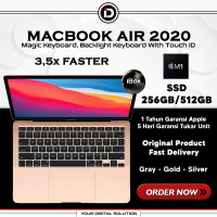 Macbook Air M1 2020 13.3 256GB/512GB Up to 3.2Ghz Gray Gold Silver