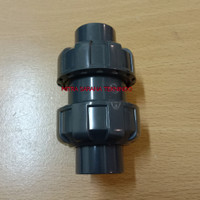 Ball check valve PVC 1/2 inch double watermur-1/2 (inchi)