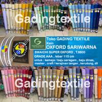 Kain oxford sari warna sariwarna L115cm baju seragam masker craft