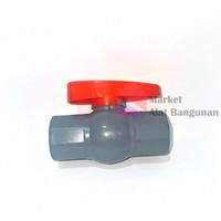 "Ball valve 1/2 Inci / Stop Kran Pipa Ballvalve PVC 1/2"" GRT"