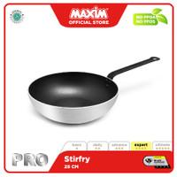 Maxim Pro Wajan Tumis 28cm Stir Fry Anti Lengket Silver