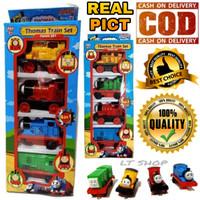 Mainan Anak PullBack Isi 4 PCS Set Mobil Kereta Api Thomas & Friend