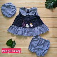 baju rok bayi perempuan usia 3-6 bulan