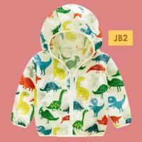 JB2 Jaket Anak Laki dan Perempuan Parasut Unisex Motif Kartun 1-6 Thn