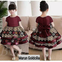 Dress kids Batik Velicia 2-5th baju pesta anak cewek baju batik anak p