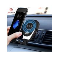 JOYSEUS HOLDER02 10W Qi Stand Fast Charger Car Holder Wireless Untuk i