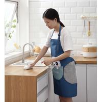 Celemek Masak Waterproof Lap Tangan Anti Air Celemek Apron Masak Dapur