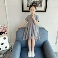 Tikids Baju Dress dres Pakaian gaun pesta anak perempuan cewek import