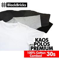 Kaos Polos Katun Combed 30s / Kaos Polos Distro - Dewasa